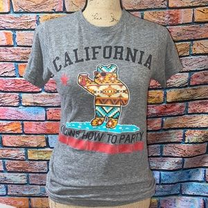 """Riot Society """"California knows how to party"""" shirt"""